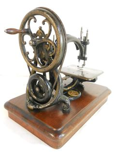 An ultra rare antique Victorian sewing machine that is full of History... it includes the Coalbrookdale Willcox & Gibbs hand crank assembly. The crank displays the special markings to say it was cast in Coalbrookdale, where the industrial revolution all started in the 18th century.
