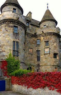 Falkland Castle ~ Fife, Scotland my husbands family are from here- Cindy