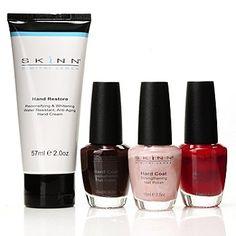 Skinn Cosmetics Pretty Hands Nail Polish & Hand Cream Four-Piece Set