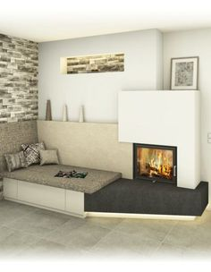 Most up-to-date Totally Free Fireplace Remodel simple Tips Kachelofen modern und traditionell – Sigmund Living Room Designs, Living Room Decor, Living Spaces, Farmhouse Remodel, Fireplace Remodel, Loft Design, Farmhouse Design, Modern Farmhouse, My New Room