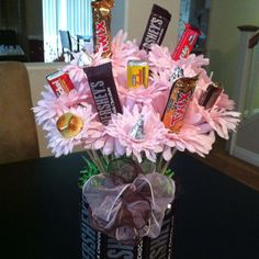 Chocolate themed centerpiece