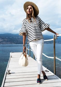 The striped tee is a classic but this in particular is really fashionable. Sincerely Jules