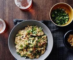 Yardbirds mushroom rice recipe - Rinse rice under cold running water until water runs clear, transfer to a bowl, cover with water and soak overnight. Rice Recipes, Gourmet Recipes, Vegetarian Recipes, Grilled Mushrooms, Stuffed Mushrooms, Stuffed Peppers, Barbecued Lamb, Eggplant Chips, Chicken Katsu Curry