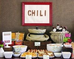 Clever Chili Party Tips...annual chili cook off at church
