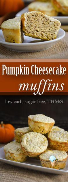 Pumpkin Cheesecake Muffins - THM:S, low carb, sugar free, gluten/nut free