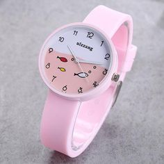 JOYROX Children Watch For Girls Color Silicone Strap Fashion Quartz Wristwatch Fish Dial Cartoon Kids Clock Relogio Feminino Simple Cheap Watches Outfit Accessories From Touchy Style Best Kids Watches, Cheap Watches For Men, Stylish Watches, Cool Watches, Wrist Watches, Children's Watches, Clock For Kids, Kids Clocks, Rose Gold Watches