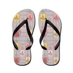 Coffee Flip Flops #fashion #shoes