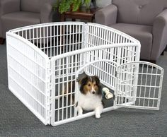 Heavy Plastic Pet Pen With 4 Panels IRIS Indoor/Outdoor Durable Safe Play New