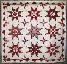 """""""Columbus's Stars"""" By Niki Valentine Vick. First place. 2012 AAQG QuiltFest (Texas)"""