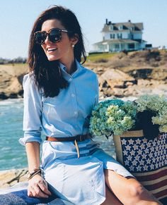 Adrette Outfits, Preppy Outfits, Classy Summer Outfits, Summer Fashion Outfits, Prep Style, Preppy Mode, Classy Girl, Frack, Look Fashion