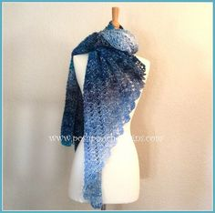 Use a variegated yarn to get a gorgeous ombre shawl like this one