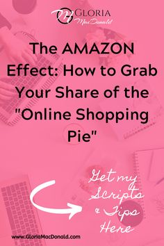 """The """"Amazon Effect"""" is real, and it's impacting your business in a big way!  The only question is, are you leveraging this effect, or is it crushing you?  Let's talk about what you can do to catch this wave!  You'll get my hot of the press tips on how to grab your share of that """"online shopping pie"""".  As well as... -ideas on new social media posts to gain more views -a new twist on a tried, tested and true strategy for these times -and some powerful sales boosting & customer retention…"""
