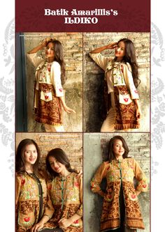 batik amarillis's ildiko long jacket available at batik amarillis webstore www.batikamarillis-shop.com : our presentation for Batik Amarillis's 3rd anniversary..Ildiko is a long jacket/coat inspired by Polish folk costume, meticulously embroidered with Hungarian embroidery style upon beautiful Tenun Batik Gedog Tuban. Wear it over little black/color dress for Oooh Aaahhh result.