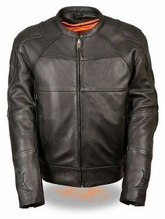 MEN'S MOTORCYCLE UPDATED SCOOTER JACKET W/REFLECTIVE SKULL & FLAMES ZIPOUT LINER