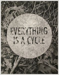 Everything Is A Cycle Art Print by Teagan White | Society6