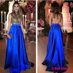 Royal Blue Prom Dresses,Royal Blue Prom Dress,Beaded Formal Gown,Beadings Prom Dresses,Evening Gowns,Formal Gown For Senior Teens PD20182971