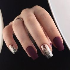 Trendy Manicure Ideas In Fall Nail Colors;Purple Nails; Fall Nai… Trendy Manicure Ideas In Fall Nail Colors;Purple Nails; Burgundy Nails, Purple Nails, Pastel Nails, Bling Nails, Acrylic Nails Maroon, Oxblood Nails, Nails Turquoise, Plum Nails, Dark Red Nails