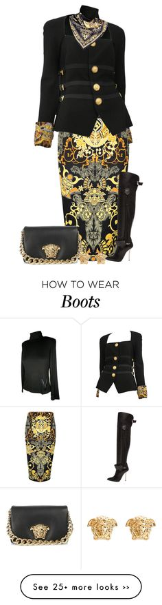 """Vintage Versace"" by bellamimi1207 on Polyvore"