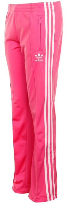 af1c872d5079fd Adidas Originals Womens Firebird Pink Track Pants - Colorful addition to  the gym or just for lounging around.