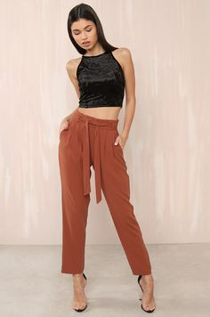 Boss Babe Trousers - Rust Harem Pants, Trousers, Fashion Heels, Boss Babe, Parachute Pants, Fashion Forward, Clothes For Women, Rust, Style