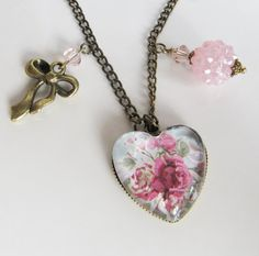 Heart necklace, by romanticcrafts, $18.00