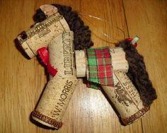5 wine cork horse craft