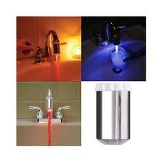 Cambia de color la luz según la temperatura del agua