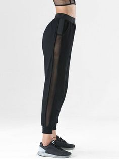 Mesh Hollow Breathable Quick-drying Sports Pants