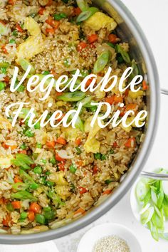 Vegetable Fried Rice recipe from RecipeGirl.com #vegetable #fried #rice #recipe #RecipeGirl Spicy Recipes, Delicious Recipes, Asian Recipes, Beef Recipes, Easy Recipes, Vegetarian Recipes, Easy Meals, Tasty, Healthy Recipes
