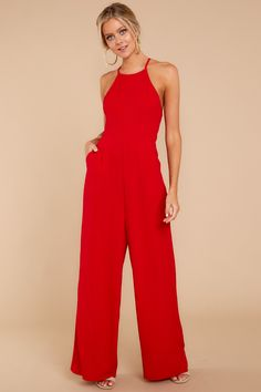 53344eb770f3 50 Best red jumpsuit images | Fashion outfits, Woman fashion, Blouses