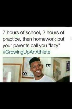 I'm not an athlete but I thought this was funny because my parents call me lazy all the time lol Volleyball Jokes, Softball Memes, Basketball Memes, Soccer Quotes, Sports Memes, Sport Quotes, Basketball Problems, Soccer Girl Problems, Athlete Problems