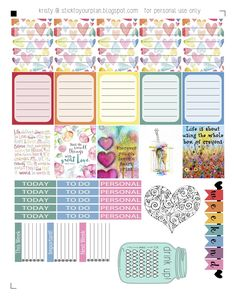 stick to your plan: Love a Rainbow - Free Printable