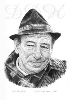 Elo Romančík, portrét Dušan Dudo Hanes
