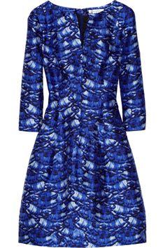 Oscar de la Renta Day printed silk and cotton-blend dress NET-A-PORTER.COM
