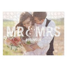 Mr And Mrs Puzzle by Shutterfly   Maybe have a puzzle for kids to put together with a picture of us?