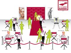 Clarins Cosmetics rolls out the Red Carpet Runway at retail!