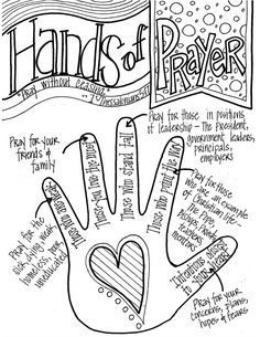 hands of prayer pdf | donna | Prayers for children, Bible for kids