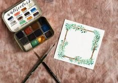 Woodland Watercolor Wreath Tutorials: Part I – The Postman's Knock Watercolor Tips, Wreath Watercolor, Watercolour Tutorials, Watercolor And Ink, Watercolor Paintings, Watercolors, Step By Step Sketches, Postman's Knock, Wreath Drawing