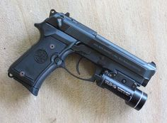 Beretta Compact L with Surfire light Zombie Plan, Raptor Truck, Beretta 92, Combat Gear, Gmc Trucks, Firearms, Hand Guns, Compact, Pistols