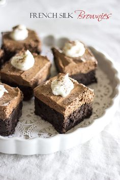 French Silk Brownies - all natural sugar-free coconut sugar brownies. Gluten-free, Dairy-Free brownies that are naturally sugar-free. Healthy...