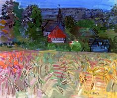 Raoul Dufy : Field of Wheat in Normandy,.1935