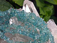 """The name APATITE derives from the Greek word """"apatao"""" meaning """"I am mistaken"""" as it has easily been confused with half a dozen other minerals over the centuries. It is most commonly confused with fluorite, beryl and aquamarine."""