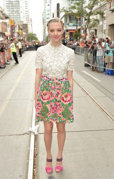 Pin for Later: Oh, Canada Is Really Bringing the Style at the Toronto Film Festival Amanda Seyfried Amanda Seyfried in Valentino at the While We're Young premiere.