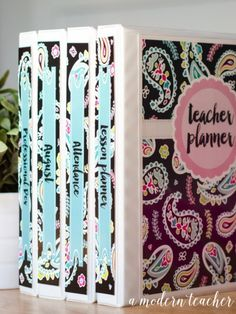 A Modern Teacher Pink Paisley Planner - A fresh, functional, and fabulous Teacher Binder to keep you organized! from www.amodernteacher.com $