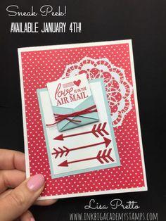 Stampin'Up! Love Notes Framelits, Suite Sentiments stamp set, valentines day, handstamped, papercrafting, DIY