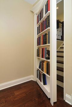 Extraordinary Hidden Room Design Ideas You Have To Copy Extraordinary Hidden Room Design Ideas You Have To Copy – Every secret room must also have an entrance or a hidden door to go to the secret room. Usually, hidden doors lead to different secre… Secret Storage, Hidden Storage, Hidden Shelf, Bedroom Door Decorations, Room Decor, Interiores Art Deco, Redo Stairs, Hidden Door Bookcase, Secret House