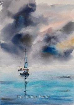 """""""Storm"""" - Original Fine Art for Sale - © Fernando Pena"""