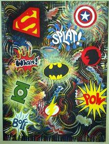 Superhero symbols  by Amy Watkins of JJ West Studio