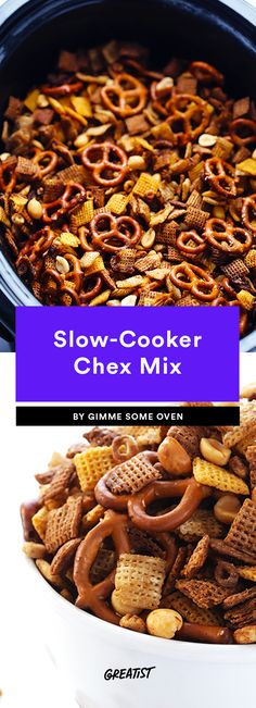 8. Slow Cooker Chex Mix #greatist http://greatist.com/eat/healthy-snacks-to-prep-for-the-week