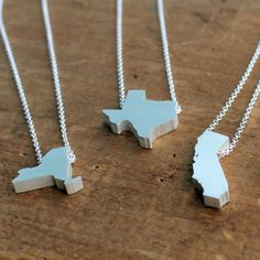 State Necklace | unique artisan state necklaces | Turtle Love Co.